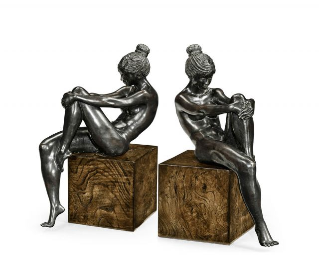 Jonathan Charles Nude Girl Figurine Bookends