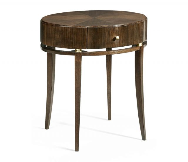 Jonathan Charles Mendip Oval Bedside Table