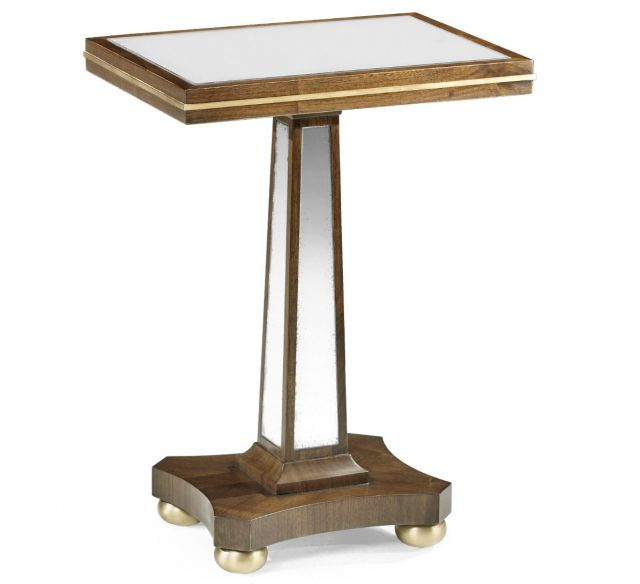 Jonathan Charles Walnut & Antique Mirror Side Table