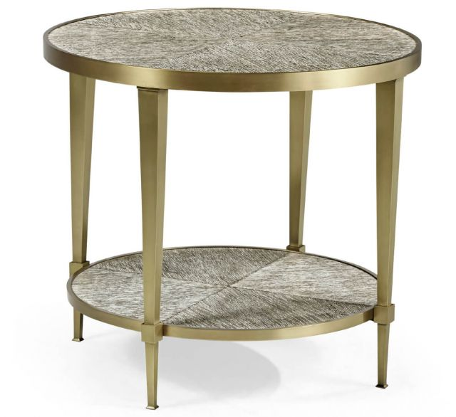 Jonathan Charles Transitional Round End Table