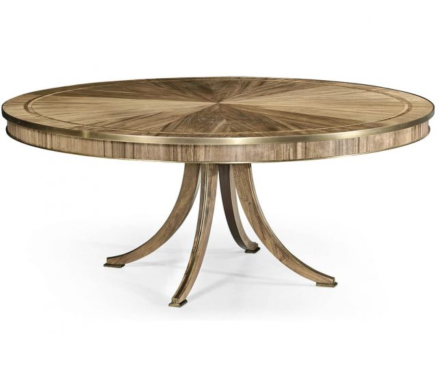 Jonathan Charles Golden Amber Round Dining Table