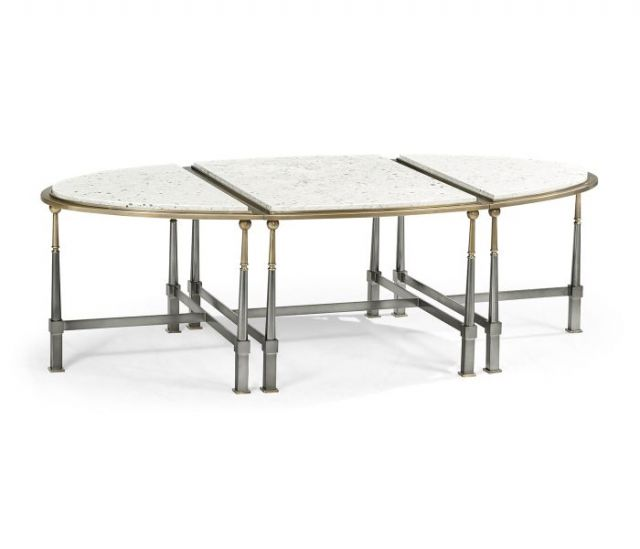 Jonathan Charles Federal Nesting Coffee Table with Marble Top