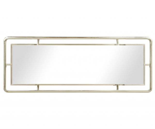 Jonathan Charles White Stainless Steel Wall Mirror