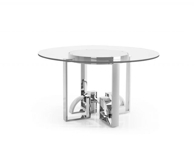 Jonathan Charles Asian Fusion Dining Table with Glass Top
