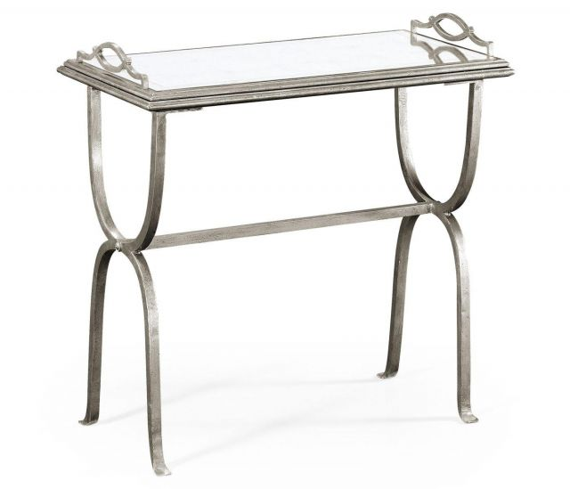Jonathan Charles Side Table Horseshoe with Removable Tray Top