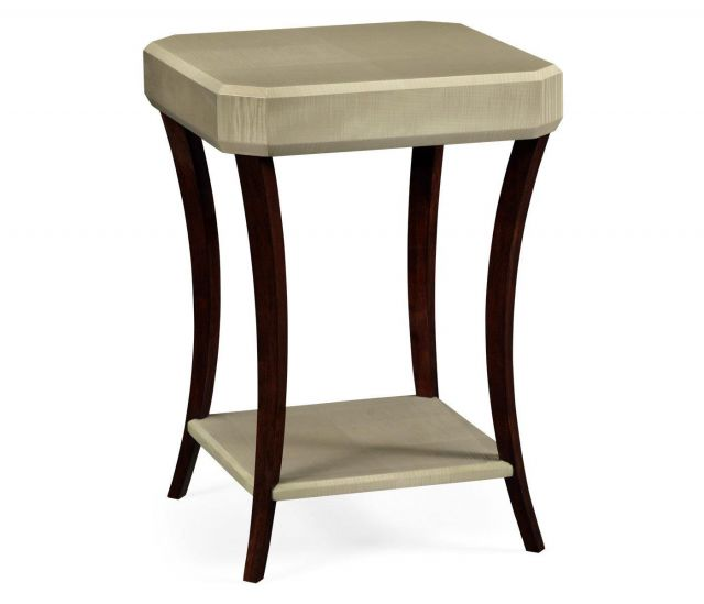 Jonathan Charles Square Side Table Art Deco