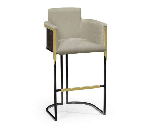 Jonathan Charles Bar Stool High Back