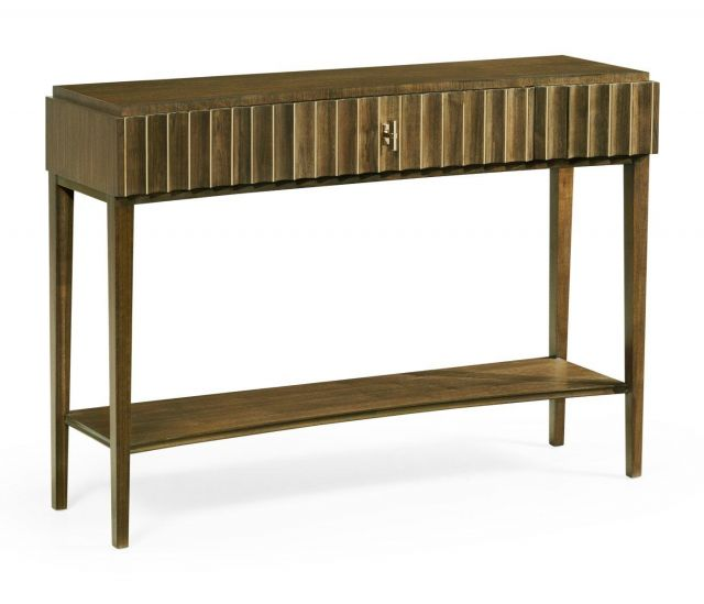 Jonathan Charles Console Table with Drawer Reeded