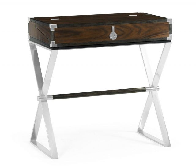 Jonathan Charles Flip-Top Desk Military in Santos Rosewood