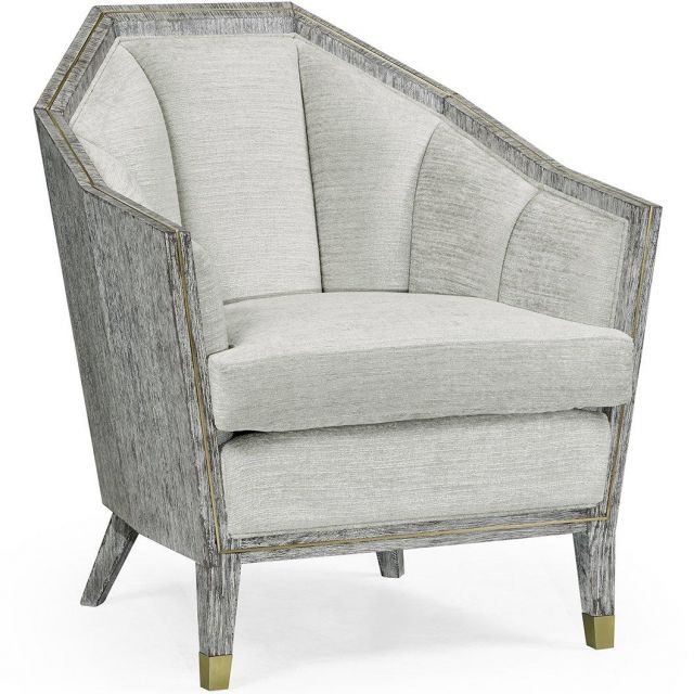 Jonathan Charles Armchair Transitional in Dark French Oak