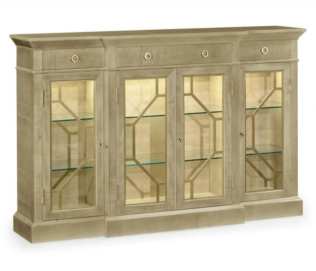 Jonathan Charles Four-Door Display Cabinet Art Deco