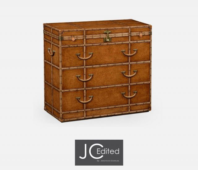 Jonathan Charles Chest of Drawers Travel Trunk