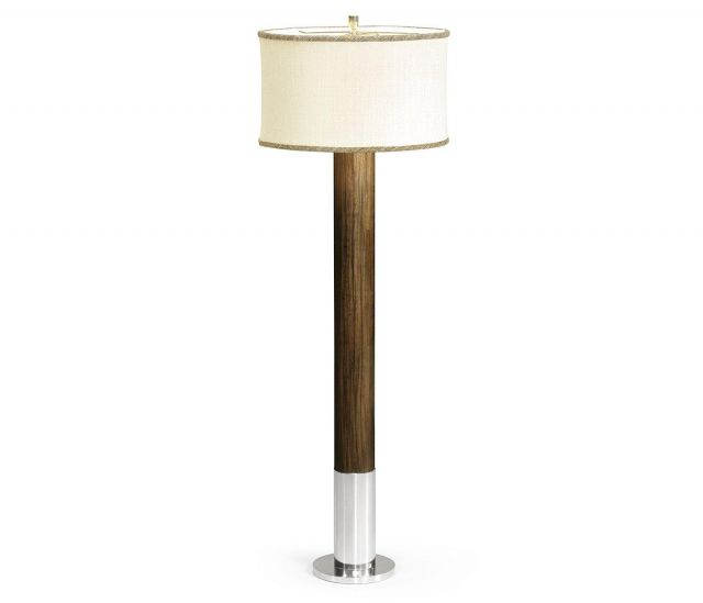 Jonathan Charles Floor Lamp Military in Santos Rosewood