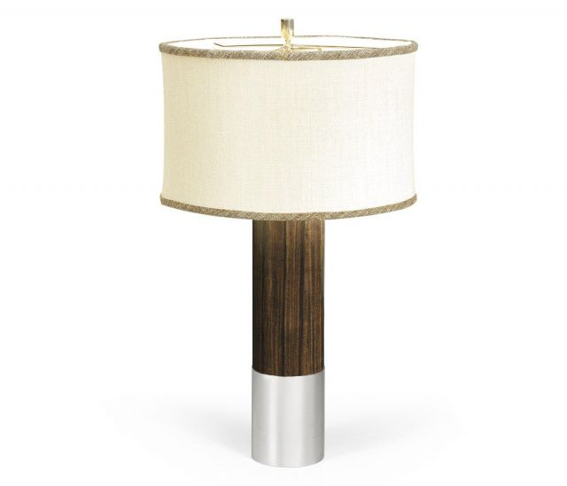 Jonathan Charles Table Lamp Military in Santos Rosewood
