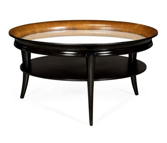 Jonathan Charles Round Coffee Table Italian 1950s