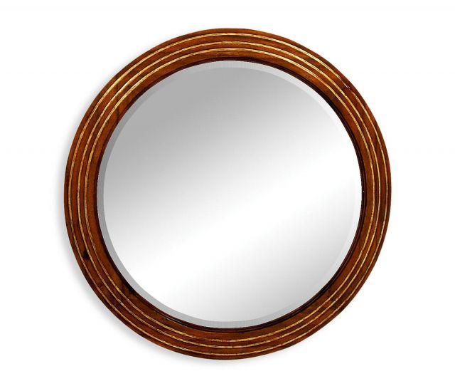 Jonathan Charles Round Wall Mirror with Stepped Surround