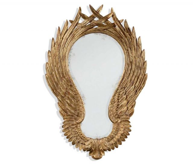 Jonathan Charles Wall Mirror Classical Winged