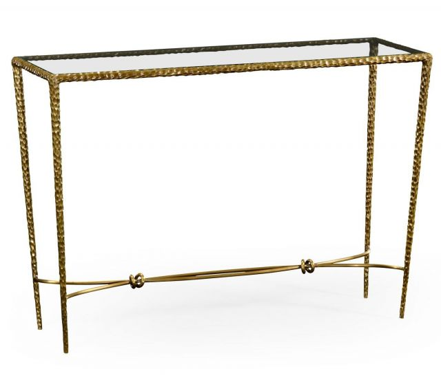 Jonathan Charles Console Table Hammered