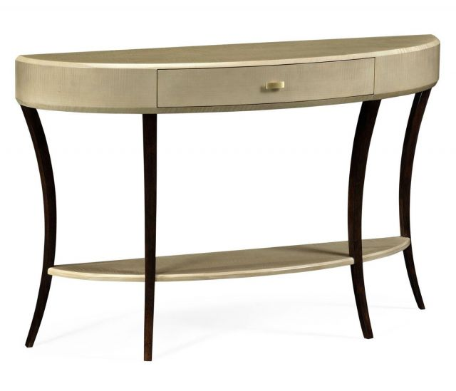 Jonathan Charles Demilune Console Table Art Deco Large