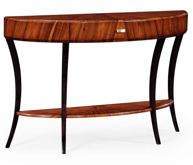 Jonathan Charles Demilune Console Table with Drawer Large
