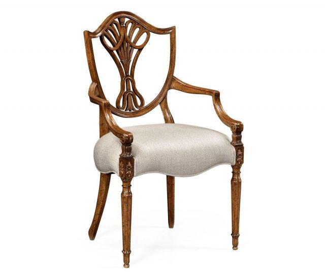 Jonathan Charles Dining Armchair Sheraton in Light Mahogany