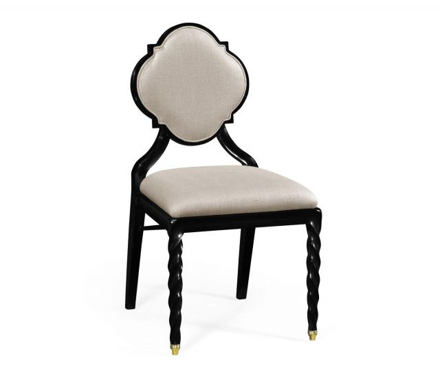 Jonathan Charles Dining Chair Barley in Black