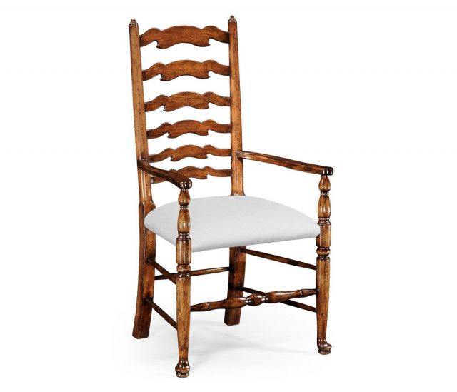 Jonathan Charles Dining Chair with Arms Cottage in COM