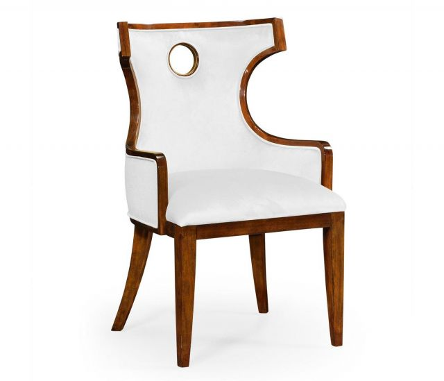 Jonathan Charles Dining Chair with Arm Greek in Mahogany