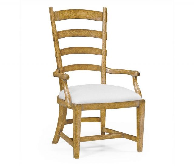 Jonathan Charles Dining Chair with Arms Fireside in COM