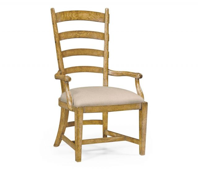Jonathan Charles Dining Chair with Arms Fireside in Mazo
