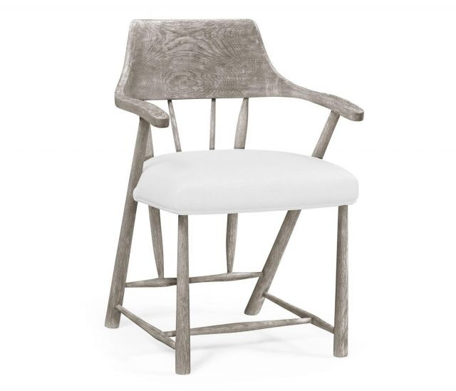 Jonathan Charles Dining Chair with Arms Forest in COM
