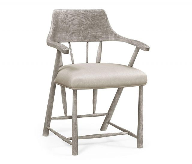 Jonathan Charles Dining Chair with Arms Forest in Mazo