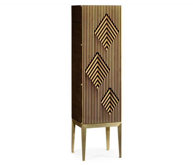 Jonathan Charles Drinks Cabinet Geometric Diamond