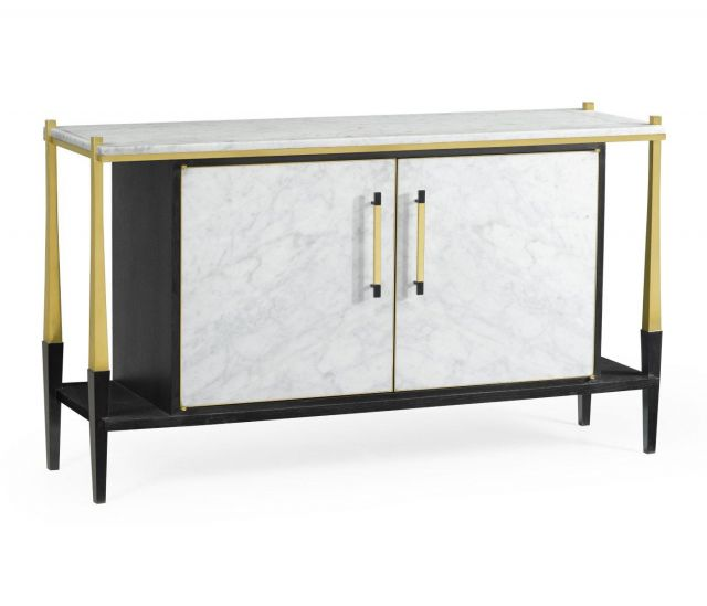 Jonathan Charles Sideboard in Marble & Ebonised Oak