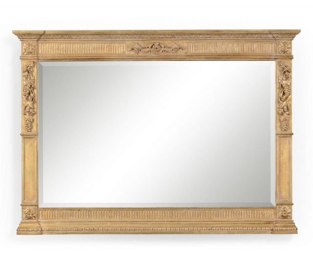 Jonathan Charles Overmantle Mirror Empire Style