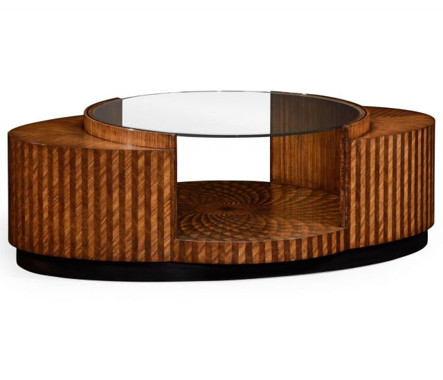 Jonathan Charles Coffee Table with Feather Inlay