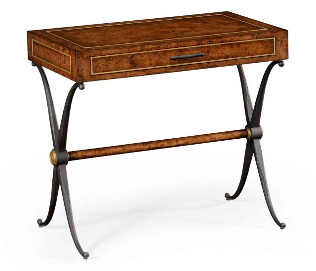 Jonathan Charles Side Table Industrial with Drawer