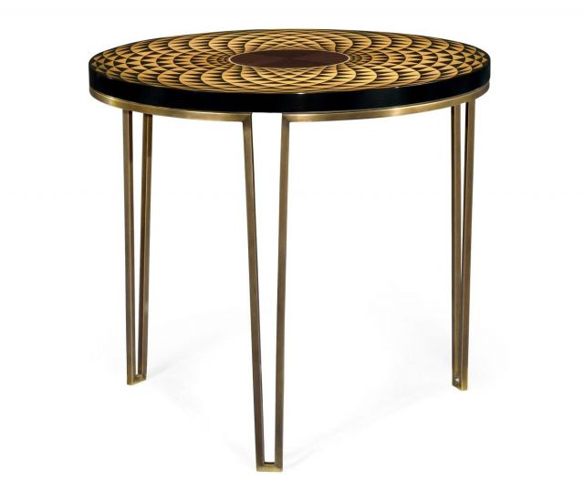 Jonathan Charles Round Lamp Table Helix