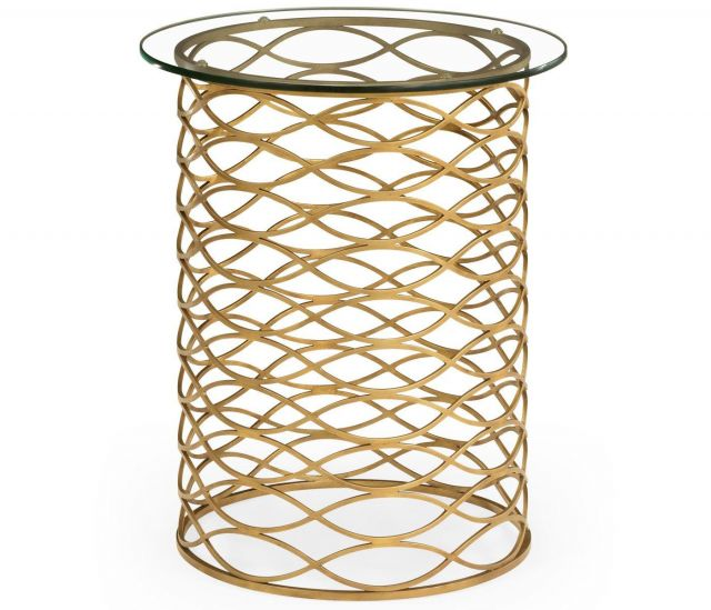 Jonathan Charles Side Table Interlaced