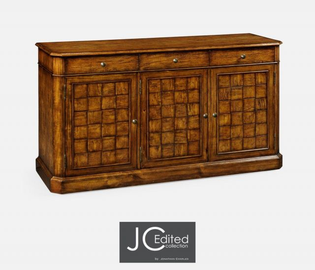 Jonathan Charles Sideboard Rustic with Three Doors