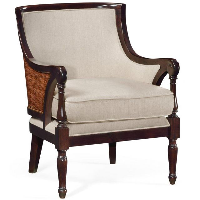 Jonathan Charles Curved Accent Chair Malaysian in Mazo