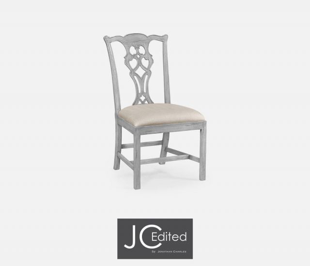 Jonathan Charles Dining Chair Chippendale in Mazo & Grey Mahogany