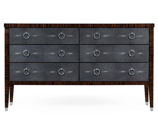 Jonathan Charles Double Chest of Drawers Shagreen