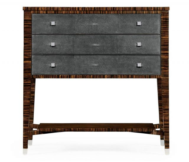 Jonathan Charles Chest of Three Drawers Shagreen