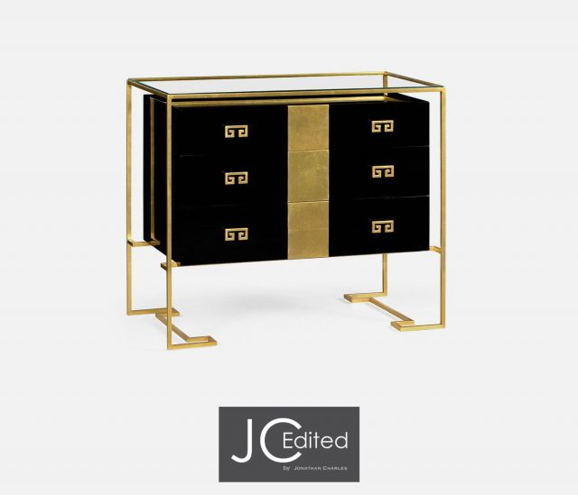 Jonathan Charles Chest of Drawers Hestia in Black