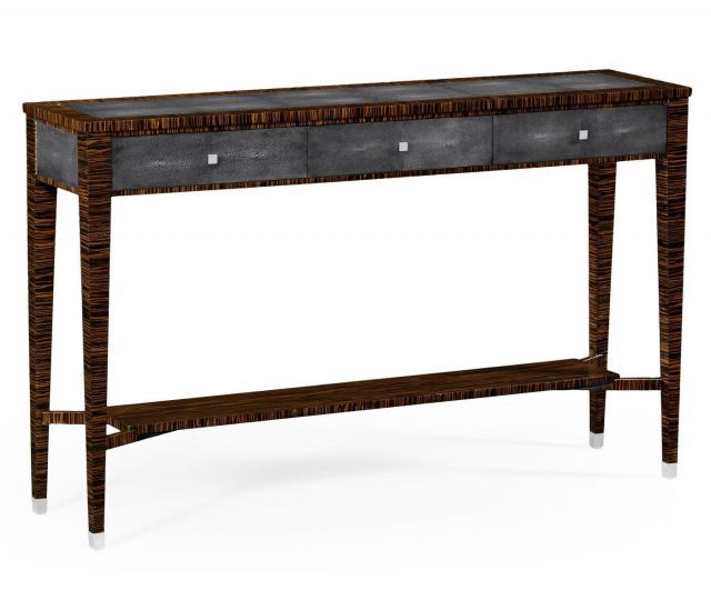 Jonathan Charles Console Table with Drawers Shagreen