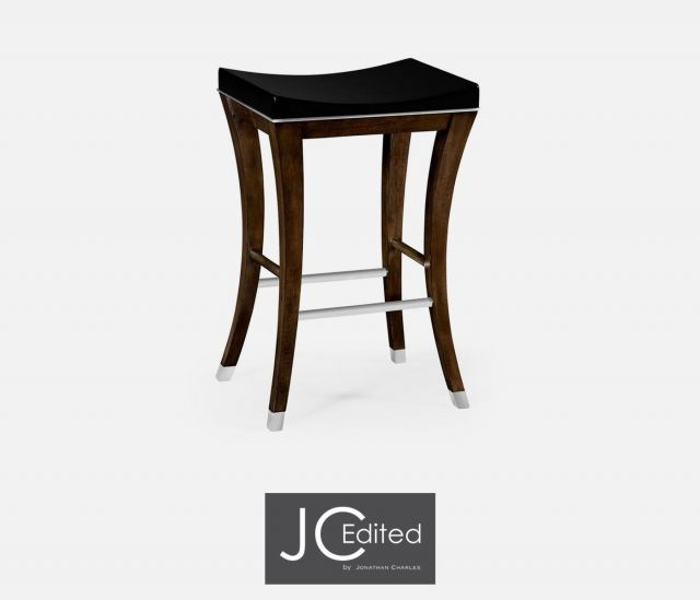 Jonathan Charles Counter Stool American Walnut in Lacquer