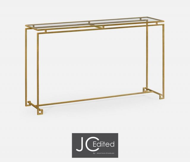 Jonathan Charles Large Console Table Hestia in Gold