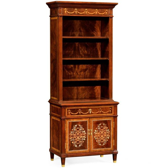 Jonathan Charles Bookcase on Chest Renaissance