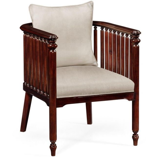 Jonathan Charles Accent Chair Slat in Mazo